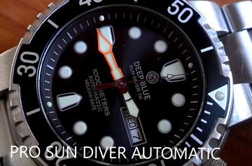 PRO SUN DIVER 2 1K 1000m BRACELET AUTOMATIC - Sunray Dial